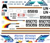 Tupolev Tu-134 Atyrau airways decal 1\100