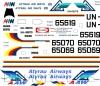 Tupolev Tu-134 Atyrau airways decal 1\100