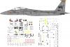 MC Donnel Douglas f-15 Eagle USAF decal 1\72