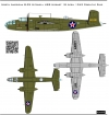 North American B-25 Mitchell US Army decal  1\48