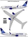 Boeing 737-800 United  Airlines decal 1\144