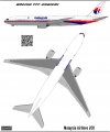 Boeing 777-200 Malaysia Airlines decal  1\144