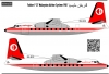 Fokker F27 Malasian Airline System scale 1\72
