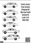 XII World Youth Festival Moscow 1985 decal 1\43